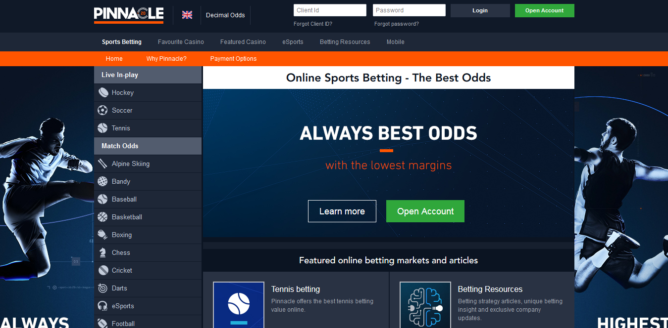 Screenshot 2018 11 14 Online Sports Betting The Best Odds Pinnacle - 2 Best Tennis Betting Sites
